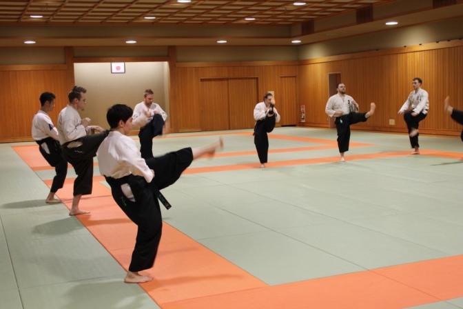 Yliopiston Taido Japanissa 2015  Osa 2:Vierailu Japanin Taidoliiton toimistolle ja treenit Hamacho-dojolla